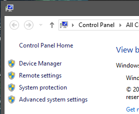 System Window Left Side